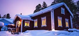 hytte i snøen