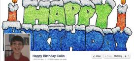 Happy birthday Colin @ Facebook