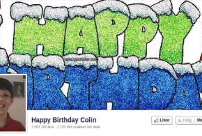 Happy birthday Colin @ Facebook
